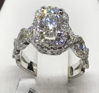 14K WG 1.34 CTTW Diamond Ring