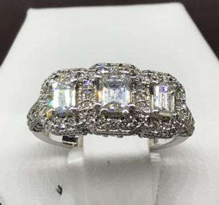 14K WG 1.29 CTTW Diamond Ring