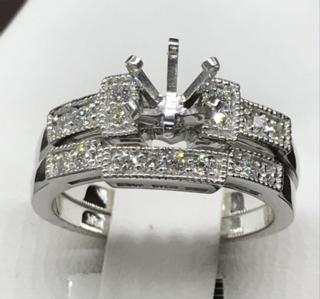 14K WG 0.29 CTTW Diamond Ring Set