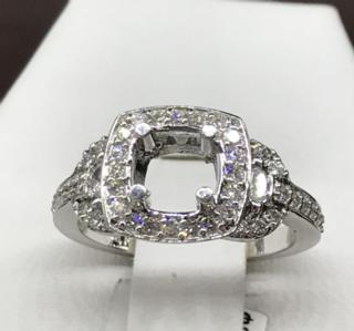 14K WG 0.59 CTTW Diamond Ring