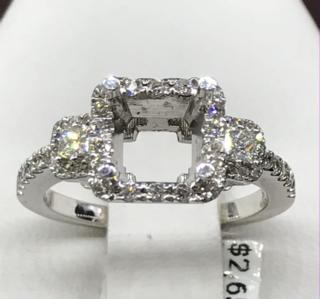 14K WG 0.62 CTTW Diamond Ring