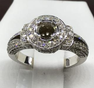 14K WG 0.92 CTTW Diamond Ring