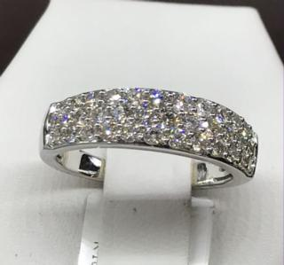 14K WG 1 CTTW Diamond Band