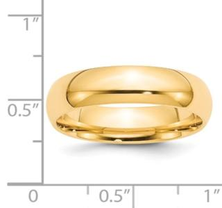6MM 14K Wedding Band