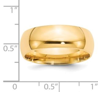 8MM 14K Wedding Band