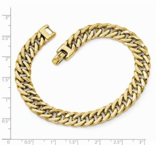 9MM 14K YG Mens Bracelet