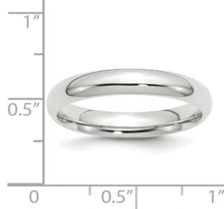 4MM 14K WG Wedding Band
