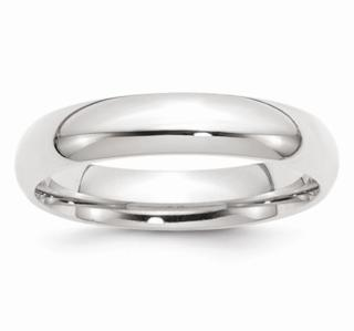 5MM 14K WG Wedding Band