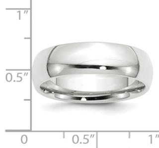 7MM 14K WG Wedding Band