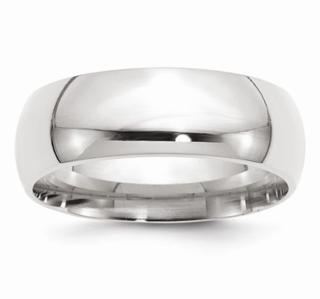 8MM 14K WG Wedding Band