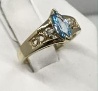 10K YG Blue Topaz Ring