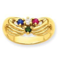 14K Hands Mothers Ring