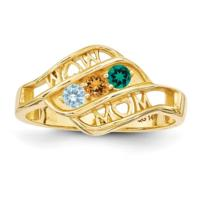 14K YG Mom Mothers Ring